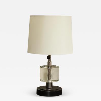 Pair of Custom Ebony Crystal Lamps