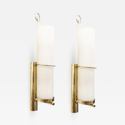 Pair of Cylindrical Mid Century Wall Lights