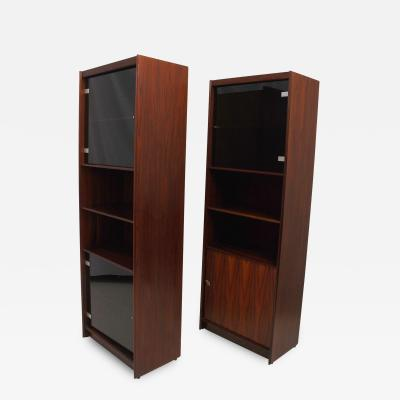 Pair of Danish Modern Rosewood Bookcases with Doors DENMARK 1960s