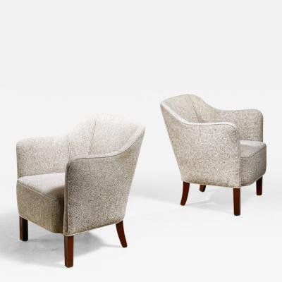 Pair of Danish easy chairs 1940s