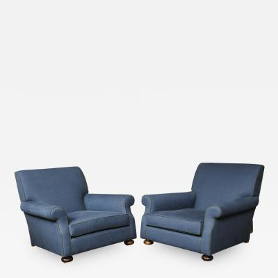 Pair of Deep Deco Club Chairs