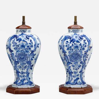 Pair of Delft Lamps