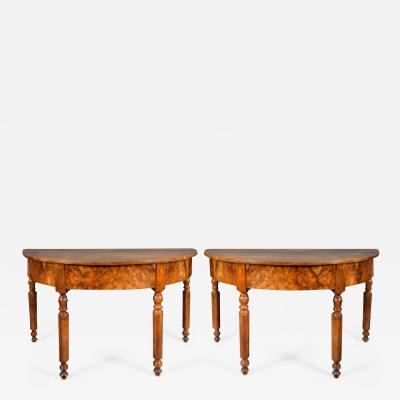 Pair of Demilune Tables