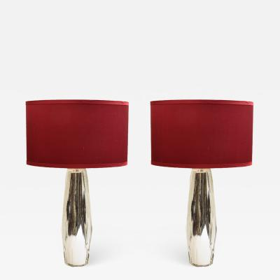 Pair of Diamond shape table lamps