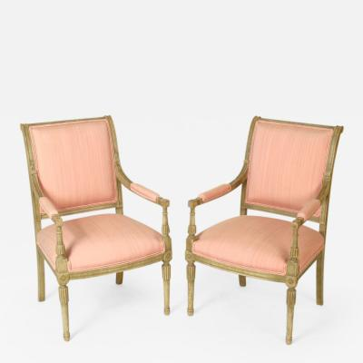 Pair of Directoire Style Painted Armchairs