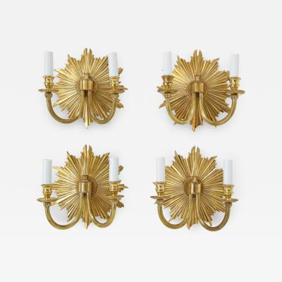 Pair of Double Arm Sunburst Sconces