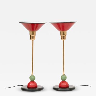 Pair of Dutch Memphis Style Table Lamps