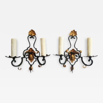 Pair of Early 20th C French Sconces