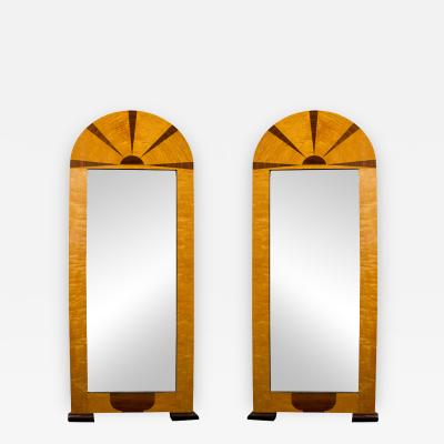 Pair of Early 20th Century Art Deco Tall Mirrors