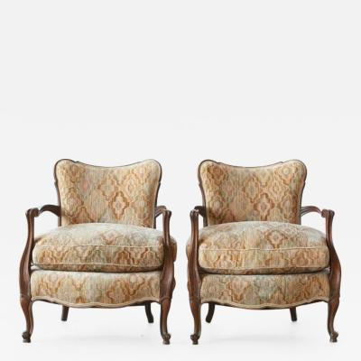 Pair of Early 20th Century French Wide Brissac Berge res