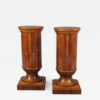Pair of Edwardian Pedestal Cabinets
