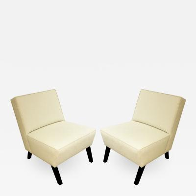 Pair of Elegant Slipper Chairs 1940s