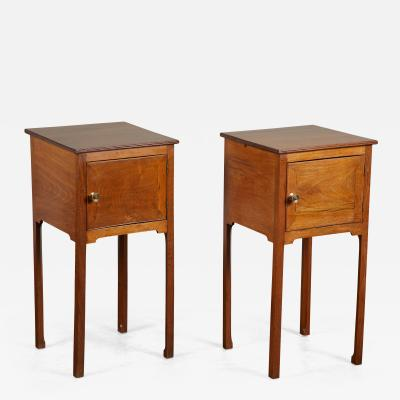 Pair of English George III Walnut Side Tables