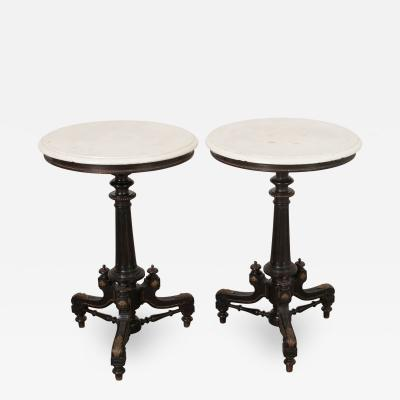 Pair of English Renaissance Revival Side Tables
