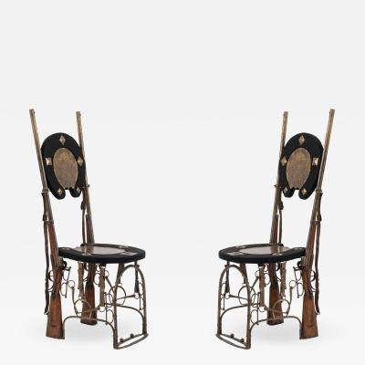 Pair of English Victorian Horseshoe Side Chairs