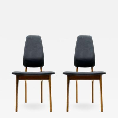 Pair of Erik Buch High Back Chair Denmark 1960s