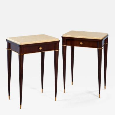 Pair of Exquisite Side Tables by Batistin Spade