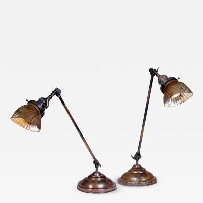 Pair of Faries Articulating Table Lamps