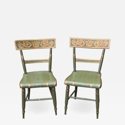 Pair of Federal Painted Fancy Chairs circa 1835