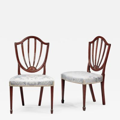 Pair of Federal Shield Back Side Chairs