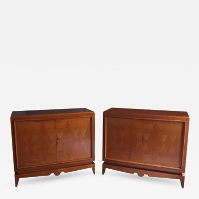 Pair of Fine French Art Deco Cherrywood Buffets