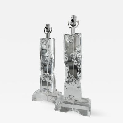 Pair of Fractal Resin Table Lamps