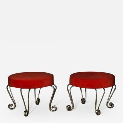 Pair of French 1940s Stools