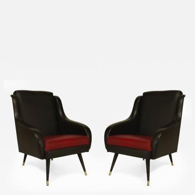 Pair of French 1950s Bergeres Armchairs