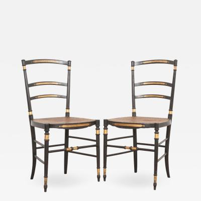 Pair of French 19th Century Belle poque Opera Chairs