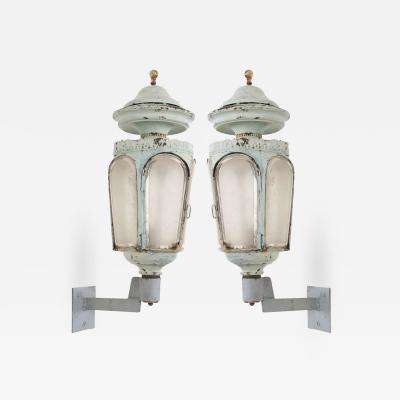 Pair of French 19th Century Louis XVI Style Wall Lanterns
