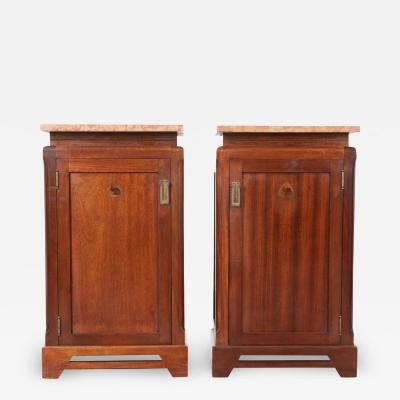 Pair of French 20th Century Art Deco Bedside Cabinets