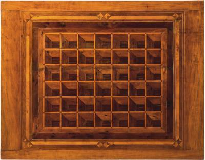 Pair of French Alsace 18th Century TrompeLOeil Veneered Rectangular Tables