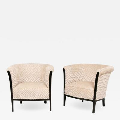 Pair of French Art Deco Armchairs salon chairs
