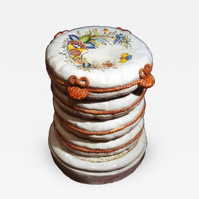 Pair of French Faience Garden Stools 1880