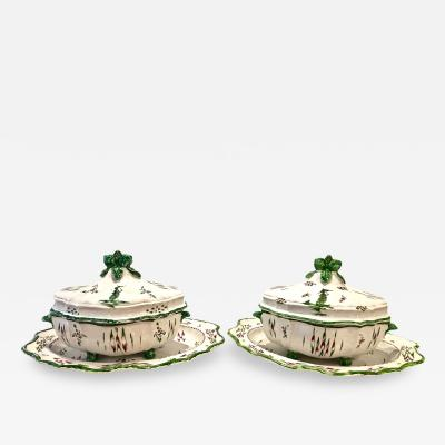 Pair of French Faience Tureens Early 19th Century