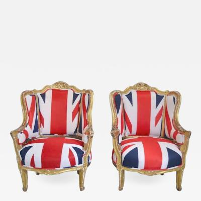 Pair of French Louis XV Style Bergeres