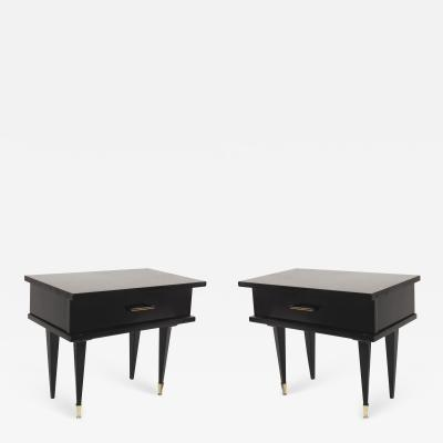 Pair of French Mid Century 1950s Low Bedside End tables