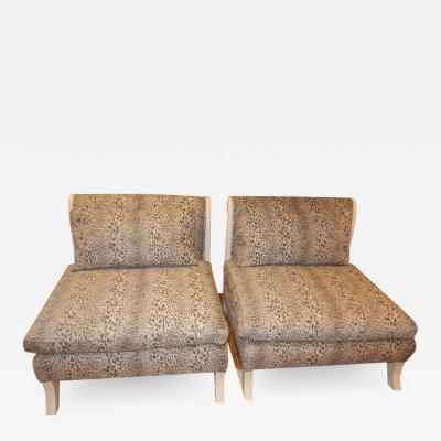 Pair of French Midcentury Swan Necked Chairs Love Seat
