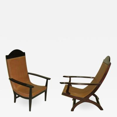 Pair of French Modern Neoclassical Lounge Chairs Armchairs