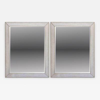 Pair of French Modern Pony and Nickel Mirrors
