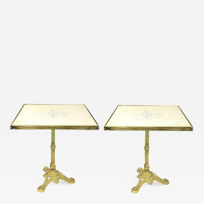 Pair of French Parisian Bistro Tables from Bristol Cafe
