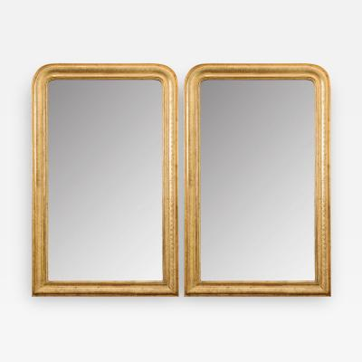 Pair of French Reproduction Louis Philippe Style Giltwod Mirrors