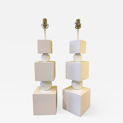 Pair of Geometrical Table Lamps