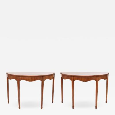 Pair of George III Mahogany Console Tables c 1790