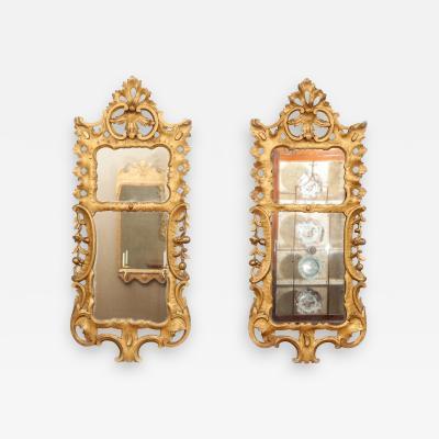 Pair of George III giltwood pier mirrors