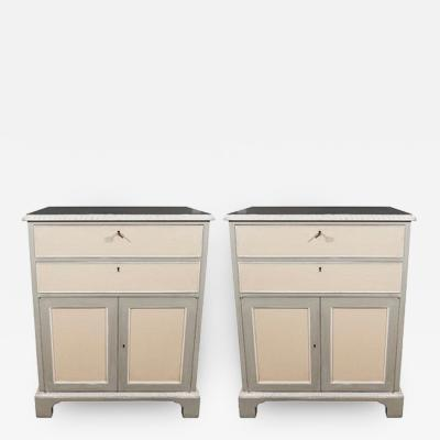 Pair of Georgian Style Side Cabinets Mid 20th Century