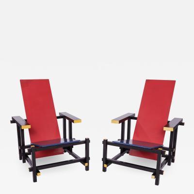 Pair of Gerrit Thomas Rietveld Chairs