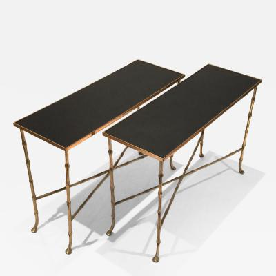 Pair of Gilt Bronze Bamboo Tables