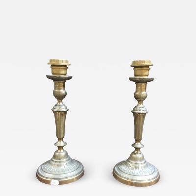 Pair of Gilt Bronze Lamp Bases