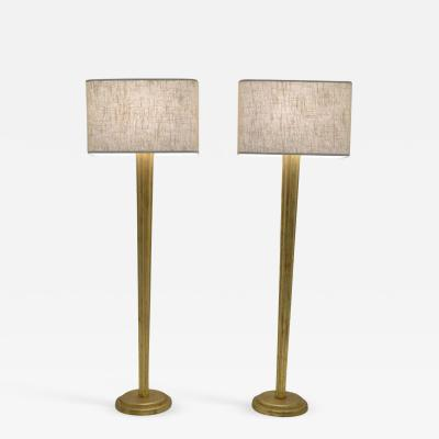 Pair of Gilt Floor Lamps